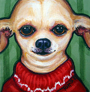 Chiwawa Paintings - Boss Dog by Rebecca Korpita