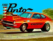 Drag Mixed Media Posters - Boss Ford Pinto Wonder Pony Poster by Paul Van Scott