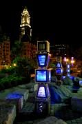 Charles River Art - Boston at Night 1 by Andrew Dinh