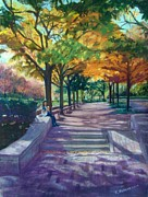 Boston Pastels Prints - Boston Autumn Print by Katherine  Berlin