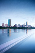 Charles River Framed Prints - Boston Back Bay Across Charles River Framed Print by Through the Lens