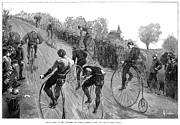 Penny Farthing Framed Prints - Boston: Bicycle Race, 1886 Framed Print by Granger