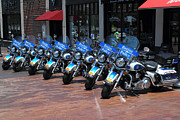 Harley Davidson Photos - Boston Bikers by Richard Mann