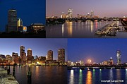 Skyline Photo Framed Prints - Boston City Skyline Framed Print by Juergen Roth