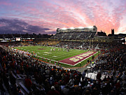 Sunset Wall Art Prints - Boston College Alumni Stadium Print by John Quackenbos