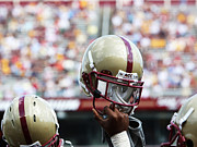 Team Prints - Boston College Helmet Print by John Quackenbos