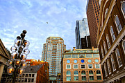 Glass Wall Prints - Boston downtown Print by Elena Elisseeva