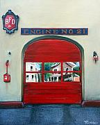 21 Paintings - Boston Fire Engine 21 by Paul Walsh