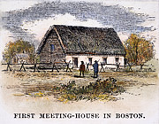 Meetinghouse Framed Prints - Boston: First Church Framed Print by Granger