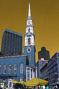Historic Home Mixed Media Prints - Boston Freedom - Illustration Print by Peter Art Print Gallery  - Paintings Photos Posters