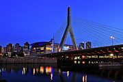 Boston Metal Prints - Boston Garden and Zakim Bridge Metal Print by Rick Berk