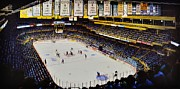 New York Rangers Paintings - Boston Garden Ice by T Kolendera