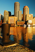 James Kirkikis Prints - Boston Harbor Print by James Kirkikis