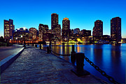 Boston Skyline Posters - Boston Harbor Walk Poster by Rick Berk