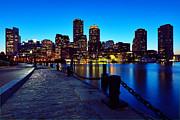 Boston Harbor Walk Print by Rick Berk