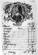 Colonial Man Photos - BOSTON: HOTEL BILL, c1768 by Granger