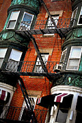 North End Photos - Boston house fragment by Elena Elisseeva