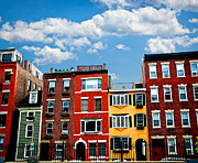 Brick Buildings Metal Prints - Boston houses Metal Print by Elena Elisseeva