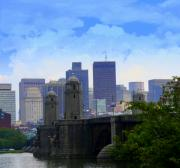 Boston Skyline Art - Boston  by Julie Lueders