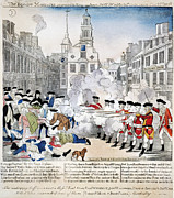 1770 Posters - Boston Massacre, 1770 Poster by Granger