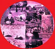 Boston Digital Art Metal Prints - Boston Porthole Metal Print by Gabe Art Inc