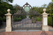 Garden Gate Prints - Boston Public Garden Gate and Haffenreffer Walk Print by Clarence Holmes