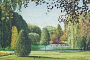 Boston Paintings - Boston Public Garden by Meg Black