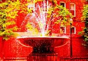 Boston Red Print by Ann Johndro-Collins