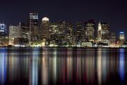 Architecture - Boston Skyline at Night by Jenna Szerlag