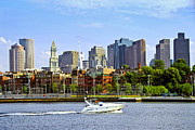 Business Prints - Boston skyline Print by Elena Elisseeva