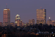 Evening Photographs Framed Prints - Boston Skyline from Jamaica Plain Framed Print by Juergen Roth
