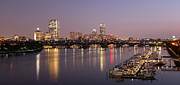 Boston Pictures Framed Prints - Boston Skyline Photography Framed Print by Juergen Roth