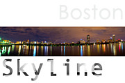 Night Out Framed Prints - Boston Skyline Framed Print by Syed Aqueel