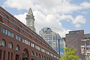 Boston Ma Prints - Boston Skyline with Custom House Print by Ruth H Curtis