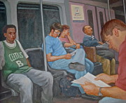 Janet Mcgrath Art - Boston Subway by Janet McGrath
