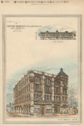 Victorian Architecture Prints - Boston Terra Cotta Building Boston MA 1883 Print by William Preston