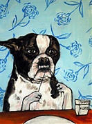 Boston Terrier Flossing Print by Jay  Schmetz