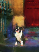 Awareness Painting Posters - Boston Terrier Poster by Jai Johnson