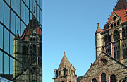 Skylines Photo Originals - Boston Unity Reflected 2853 by Guy Whiteley