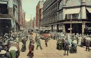 Crowd Scene Metal Prints - Boston: Washington Street Metal Print by Granger