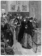 Democratic System Posters - Boston: Women Voting, 1888 Poster by Granger