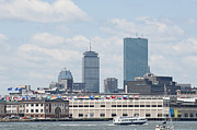 Boston Ma Posters - Boston World Trade Skyline Poster by Ruth H Curtis