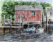 Fishing Shack Paintings - Bosuns Locker by Paul Gardner