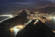 Redeemer Art - Botafogo, Praia Vermelha Beach And Copacabana by Antonello