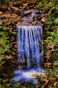 Clemson Art - Botanical Garden Falls by Lynne Jenkins