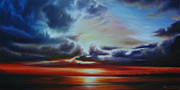 Abstract Realism Paintings - Botany Bay Sunrise by James Christopher Hill