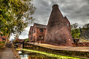 Brickwork Prints - Bottle Kiln Print by Adrian Evans