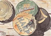 Flies Prints - Bottlecaps and Barfly Print by Ken Powers