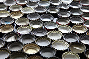 Bottle Cap Photo Posters - Bottlecaps Poster by Shana Novak