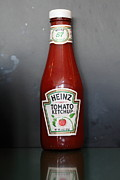 Kitschy Metal Prints - Bottled Ketchup - 5D18039 Metal Print by Wingsdomain Art and Photography